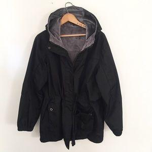Jackets & Blazers - Waterproof Black & Gray Parka Jacket Coat 1X Plus